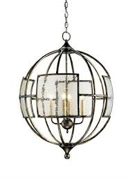 pottery barn hayden orb 4 light chandelier iron and seeded glass bronze