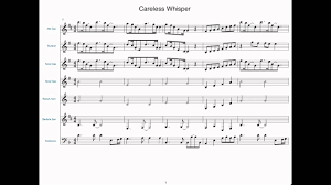 careless whisper tenor sax sheet music careless whisper sheet music for jazz band youtube