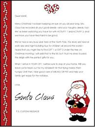Christmas Note Template Printable Christmas Letter From Santa Template