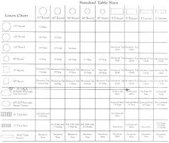 Round Table Linen Chart Round Tablecloth Sizes