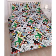 MARVEL COMICS RETRO DOUBLE DUVET COVER SET REVERSIBLE KIDS BEDDING ... & MARVEL COMICS RETRO DOUBLE DUVET COVER SET REVERSIBLE KIDS BEDDING OFFICIAL Adamdwight.com