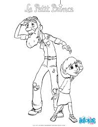 Small Picture The little girl and her grandfather coloring pages Hellokidscom