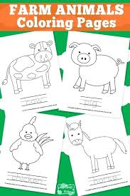 Farm Animal Coloring Book Free Printable Farm Animals Coloring Pages