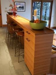 Breakfast bar with storage 29