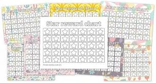 Free Star Chart 8 Free Printable Reward Charts Fill In The Stars Myria