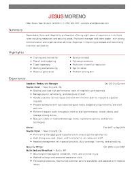 Stagehand Resume Examples Hospitality Resumes Examples Examples of Resumes 50