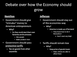 alexander hamilton vs thomas jefferson ppt video online  8 debate over how the economy should grow hamilton jefferson