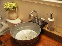 galvanized tub sink bathroom craftsman with bathroom bucket sink