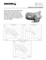 Armstrong Pump Cross Reference Chart Series 4270 Stock Mounted Pumps S A Armstrong Limited