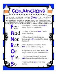 Conjunction Chart Conjunctions Fanboys Anchor Chart