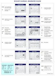Academic Calendars Ridgewater College
