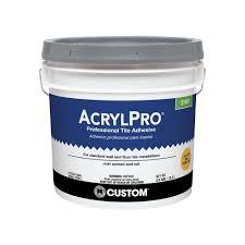 custom building s acrylpro 3 1 2 gal ceramic tile adhesive