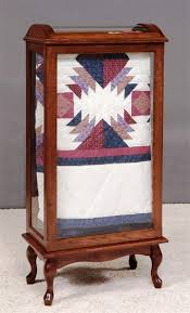 Amish Large Quilt Rack Display Case & Amish Large Queen Anne Quilt Rack Display Case Adamdwight.com