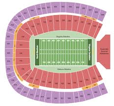 Scott Stadium Seating Chart With Seat Numbers Scott Stadium Seating Chart Charlottesville