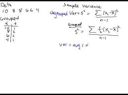 Variance Formula Calculating Sample Variance