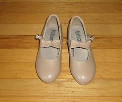 Details About Balera Tap Dancing Shoes Tan Mary Jane Tap Shoe Size 1 5 A