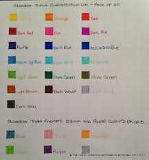 Staedtler Triplus Color Chart Review Staedtler Triplus Fineliners All The Colours Of