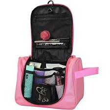 cosmetic bags cosmetic bag makeup organizer portable waterproof hanging toiletry valentine gift travel bag with multiple partments in pink durable