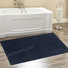 chardin home classic bath rug large 27 x45 navy 100 pure cotton super