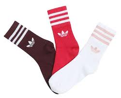 Details About Adidas Men Mid Cut Crew 3 Pairs Socks Red Casual Running Fashion Sock Ed9396