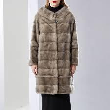 cnegovik womens fur coat mink coat real fur mink coats women round collar full pelt luxury