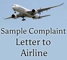 Letter To Airline Sample Complaint Letter To Airline Free Letters
