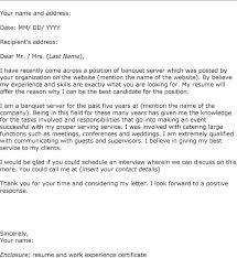 Cover Letter For A Server Cover Letter For A Server Position Resume Tutorial Pro