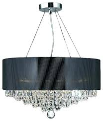 crystal drum chandelier post black