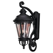 Black LED Outdoor Wall Mounted Lighting Outdoor Lighting - Black exterior light fixtures