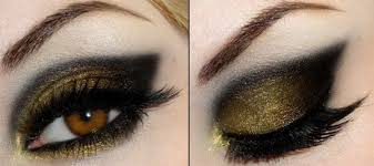 shimmer smoky gold eye makeup