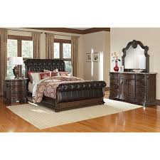 The Monticello Sleigh Bedroom Collection Pecan
