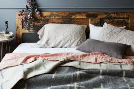 stonewashed linen bedding by food  dwell