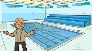 olympic size swimming pool. A Bald Man With Glasses At Indoor Olympic Size Swimming Pool Olympic Size Swimming Pool