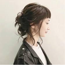 黒髪のミディアムヘアに似合うオススメの色々なアレンジhair