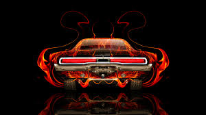 retro fire abstract car