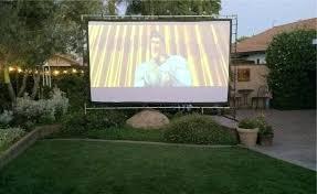 diy backyard projector screen backyard projector screen diy outdoor projector screen sheet
