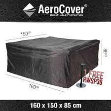 aerocover outdoor dining set cover 160 x 150 h 85 cm