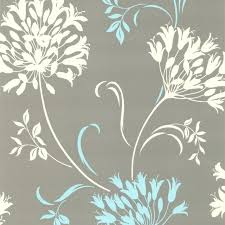screen background image handy living: nerida light gray floral silhouette wallpaper contemporary wallpaper