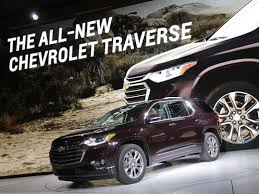 2018 chevrolet traverse redesign. perfect redesign 2018 chevrolet traverse trucklike redesign revealed at detroit auto show inside chevrolet traverse