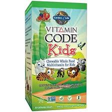 garden of life vegetarian multivitamin supplement for kids vitamin code kids chewable raw whole food vitamin with probiotics 30 chewable bears