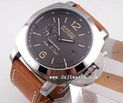parnis marina militare watch 50mm marina militare coffee dial power reserve automatic orange marks mens watch