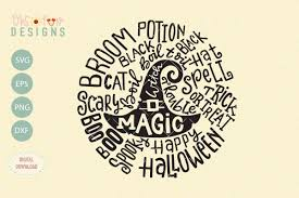 The graphic resource above is about halloween, pumpkin, night apart from the transparent png clipart image file, you can also download. Witch Hat Halloween Word Art Svg Halloween Typography 814348 Svgs Design Bundles