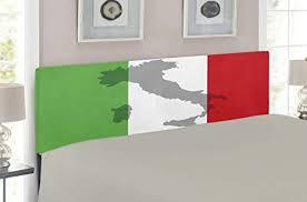 Italian Bed Size Chart Amazon Com Lunarable Italian Flag Headboard Map View Of