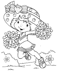 Strawberry Shortcake Colouring Pages