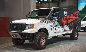 2018 nissan nv. unique 2018 nissanu0027s lifted turbodiesel 44 van could deliver packages anywhere intended 2018 nissan nv r