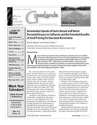 Grass Seed Germination Chart Pdf Germination Speeds Of Exotic Annual And Native