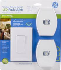 com ge wireless remote control led puck lights white 2 pack 17529 home improvement