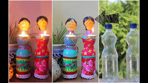 Decorated Plastic Bottles Dolls diya using Plastic Bottles for Diwali Decorations DIY Home 44