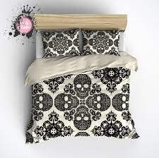 33 marvelous design ideas skull bedding king sets designs set thebutchercover com size uk california quiksilver super