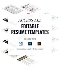 Editable Resume Template Delectable Access All Editable Resume Templates RockStarCVSunday 48th